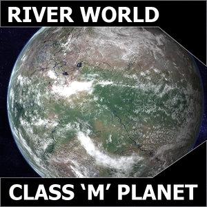 3ds max alien river planet earth