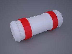 3d model pneumatic tube