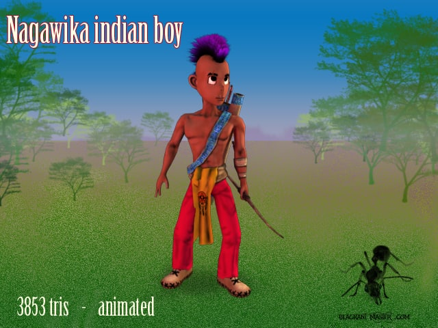 3d indian bow animable