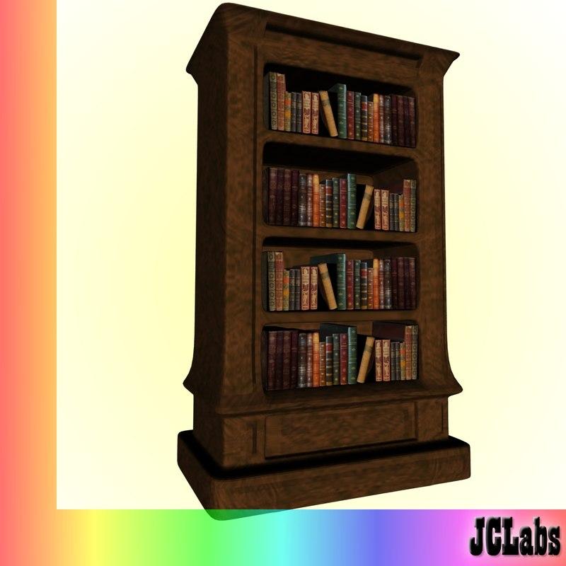 bookcase books 3d model