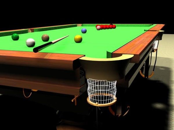 3d snooker table