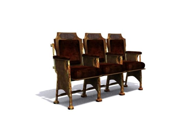 vintage chairs old 3d model