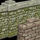 wall sandbags 3d model