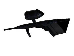 free paintball gun 3d model