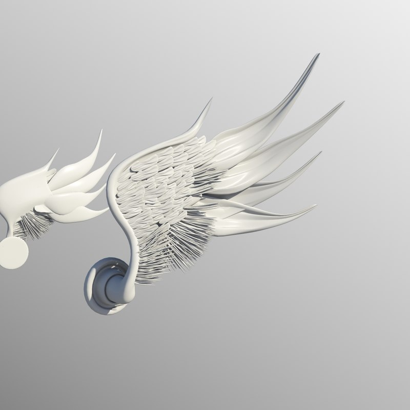 3d wing statue