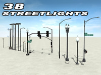 3d model of street lights streetlights