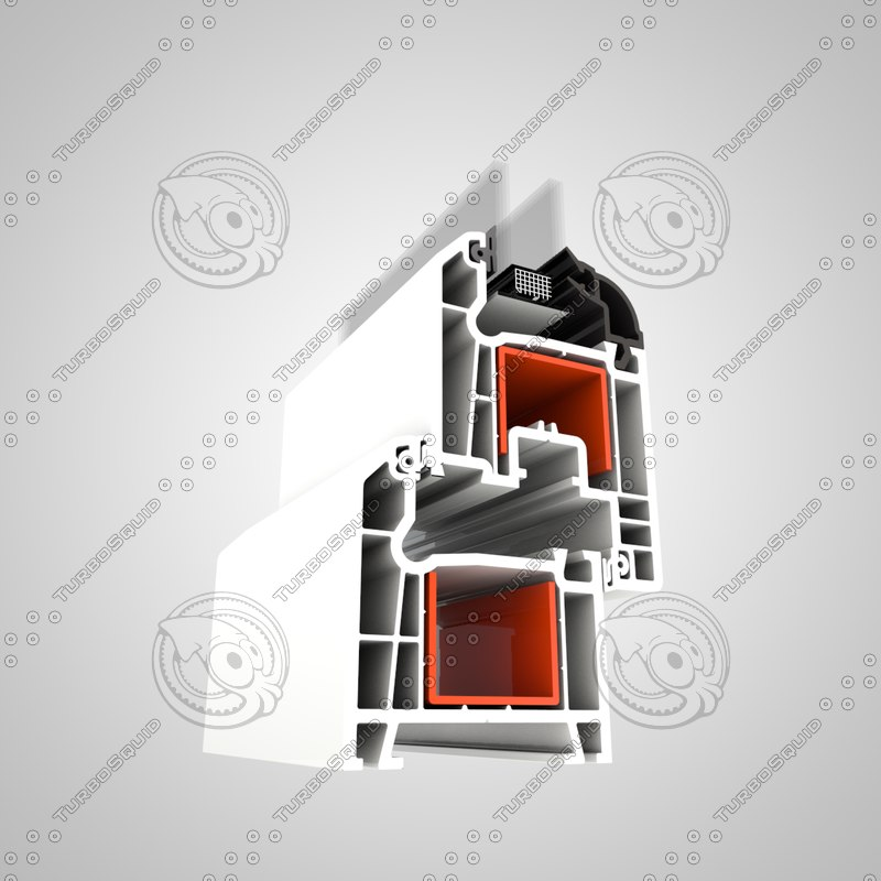 3d c4d pvc window profile