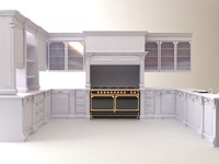 3d white kitchen
