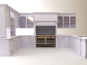 3d white kitchen