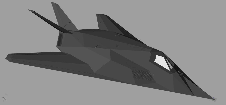 3d f-117 nighthawk