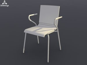 conference chair ole 4-leg 3d max