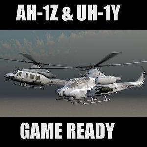 games ah-1z cobra viper 3d model