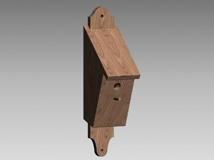 bird house wood 3d max