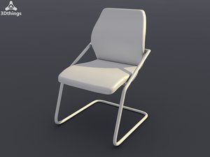 conference chair wien cantilever 3d max