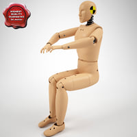 Crash Test Dummy Hibrid 3 Pose1