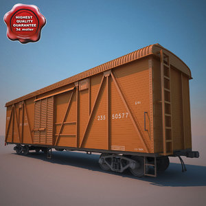 3d model of goods wagon 11-066
