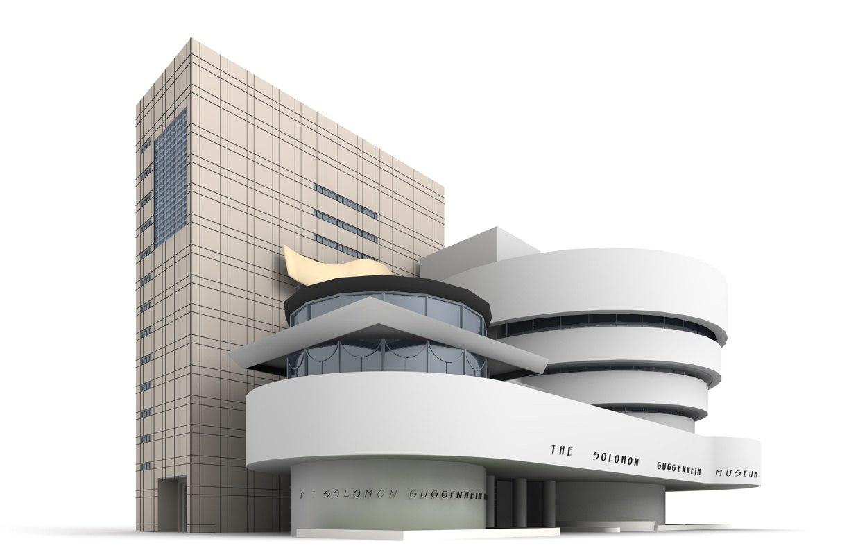 3d model solomon r guggenheim museum