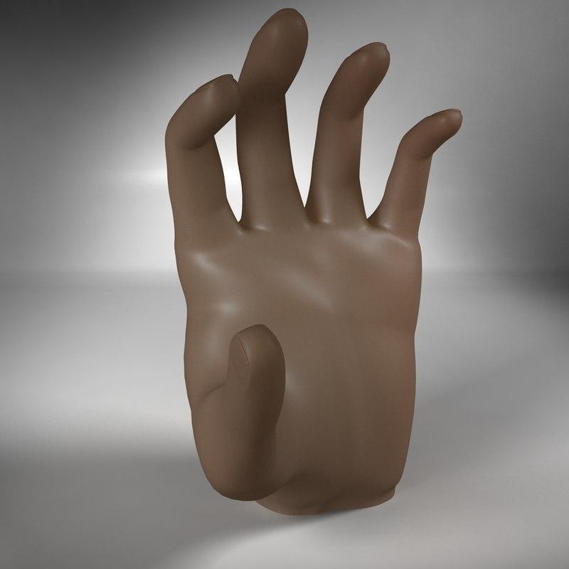 3d model human hand