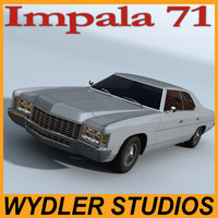 3d model chevrolet impala 71