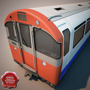 3d max realistic london underground train