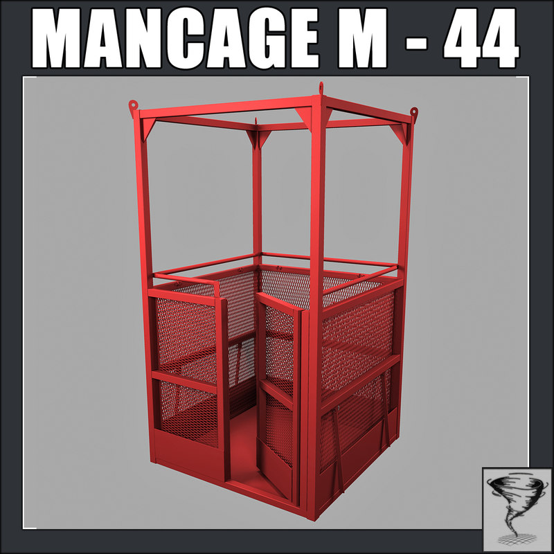 3ds man cage m44