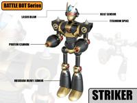 striker robot 3d max