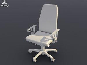 3d model chair wien swivel adjustable