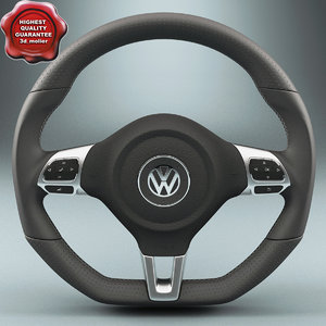 3ds max volkswagen steering wheel