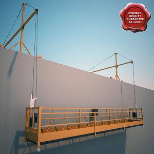 3d 3ds window cleaning machine gondola