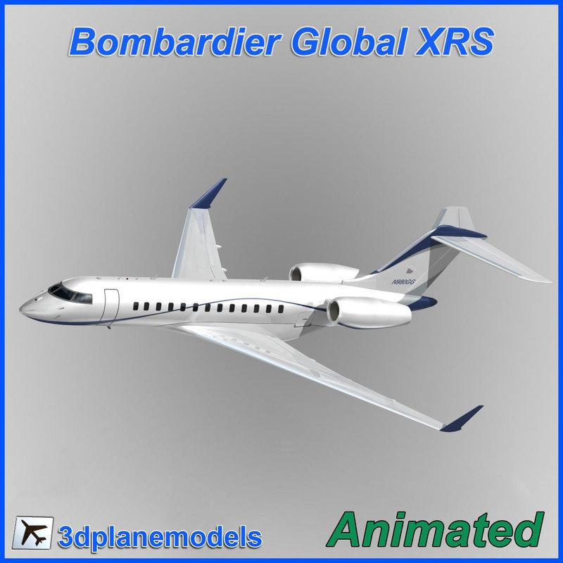 bombardier global 3d model