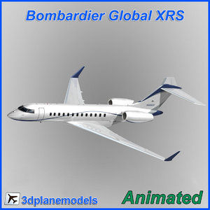 bombardier global 3d model