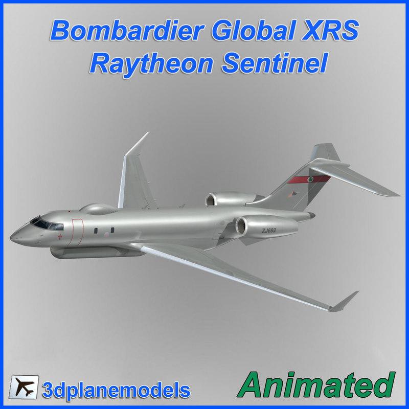 raytheon sentinel bombardier global dxf