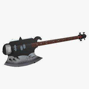 kiss axe bass guitar max