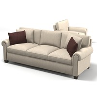 3ds max baker sofa 6384-96