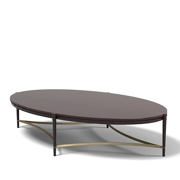 Baker Thomas Pheasant Modern Contemporary Oval Coffee Table 7855