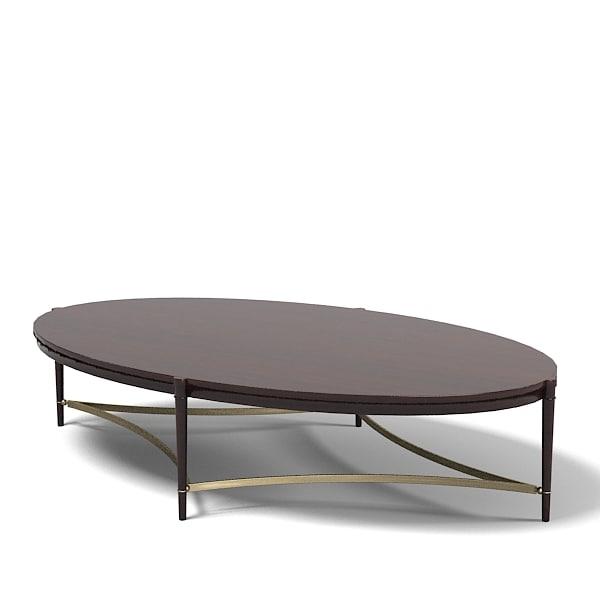 Oval Coffee Table Modern: Baker Thomas Pheasant 3d Max