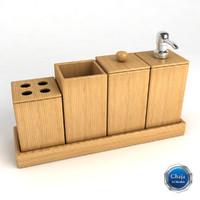 bathroom accessories bath 3d 3ds