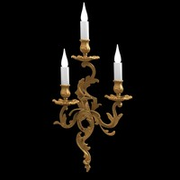 bronze d art francias wall candle lamp sconce classic