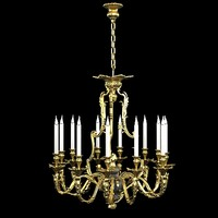 Bronze d art  1086 classic pendant  suspension candle lamp chandelier baroque