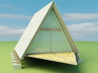 3d ecological small house model