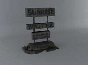free motel indicator 3d model