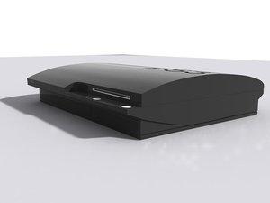 3d playstation 3 model
