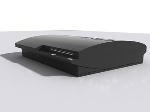 3d playstation 3 model