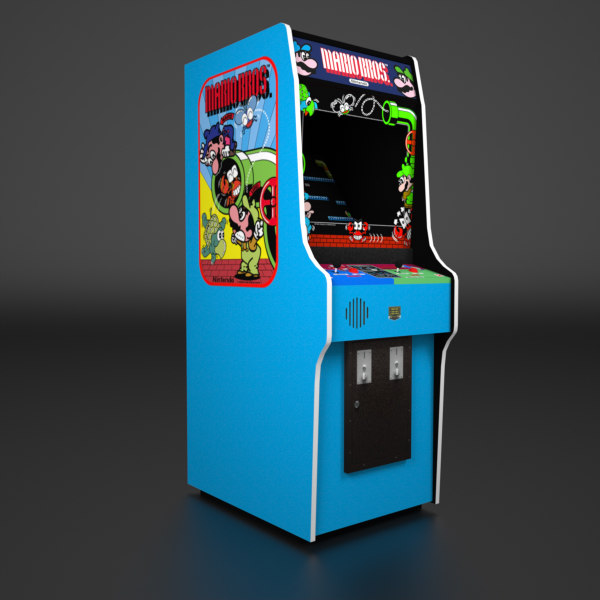 1983 arcade cabinet 3d model