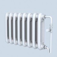 3d retro style radiator