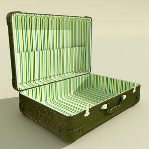 3d model suitcase case