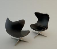 3d armchair hug chair