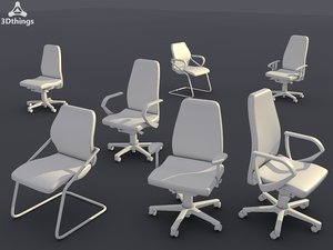 3d model conference chair set13 -