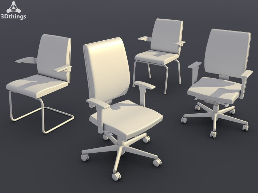 conference chair set14 - 3d model