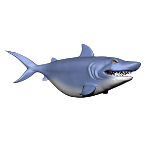 cartoon character shark 3d 3ds
